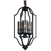 CWI Lighting 9858P15-3-101 Vanna 3 Light 15 inch Black Chandelier Ceiling Light