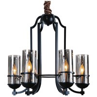 CWI Lighting 9858P15-6-101 Vanna 6 Light 25 inch Black Chandelier Ceiling Light