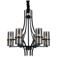 CWI Lighting Black Glass Chandeliers