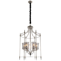 CWI Lighting 9859P22-6-601 London 6 Light 22 inch Chrome Chandelier Ceiling Light