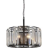 CWI Lighting 9860P19-8-101 Jacquet 8 Light 20 inch Black Chandelier Ceiling Light
