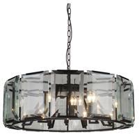 CWI Lighting 9860P31-12-101 Jacquet 12 Light 31 inch Black Chandelier Ceiling Light