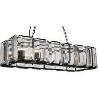 CWI Lighting 9860P42-12-101 Jacquet 12 Light 16 inch Black Chandelier Ceiling Light