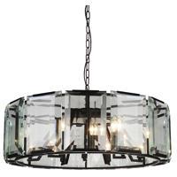 CWI Lighting 9860P43-18-101 Jacquet 18 Light 43 inch Black Chandelier Ceiling Light