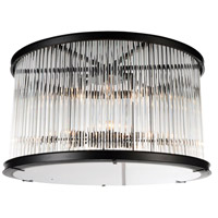 CWI Lighting 9861C20-6-101 Mira 6 Light 20 inch Black Flush Mount Ceiling Light