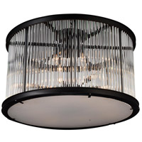 CWI Lighting 9861C32-12-101 Mira 12 Light 32 inch Black Flush Mount Ceiling Light