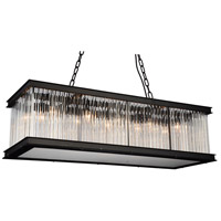 CWI Lighting 9861P40-10-101 Mira 10 Light 40 inch Black Chandelier Ceiling Light