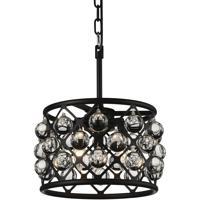 CWI Lighting 9862P12-3-101 Renous 3 Light 12 inch Black Chandelier Ceiling Light