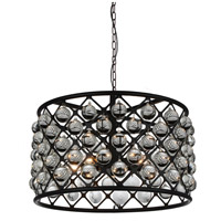 CWI Lighting 9862P20-5-101 Renous 5 Light 20 inch Black Chandelier Ceiling Light