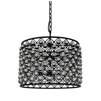 CWI Lighting 9862P28-10-101 Renous 10 Light 28 inch Black Chandelier Ceiling Light