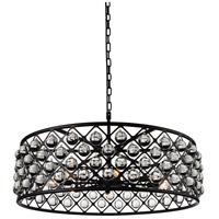 CWI Lighting 9862P32-8-101 Renous 8 Light 32 inch Black Chandelier Ceiling Light