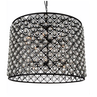 CWI Lighting 9862P36-16-101 Renous 16 Light 36 inch Black Chandelier Ceiling Light