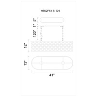CWI Lighting 9862P41-6-101 Renous 6 Light 13 inch Black Chandelier Ceiling Light