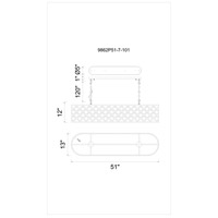 CWI Lighting 9862P51-7-101 Renous 7 Light 13 inch Black Chandelier Ceiling Light
