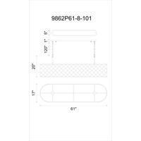 CWI Lighting 9862P61-8-101 Renous 8 Light 61 inch Black Chandelier Ceiling Light