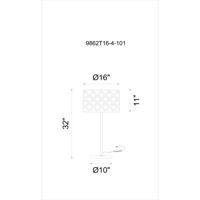 CWI Lighting 9862T16-4-101 Renous 32 inch 60 watt Black Table Lamp Portable Light