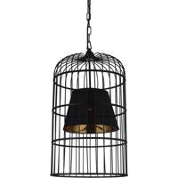 CWI Lighting 9865P16-1-101 Silvester 1 Light 16 inch Black Pendant Ceiling Light