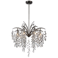 CWI Lighting 9885P25-8-183 Napan 8 Light 25 inch Silver Mist Chandelier Ceiling Light