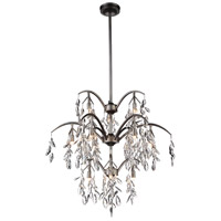 CWI Lighting 9885P28-12-183 Napan 12 Light 28 inch Silver Mist Chandelier Ceiling Light