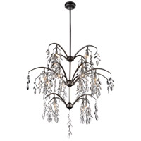 CWI Lighting 9885P36-16-183 Napan 16 Light 36 inch Silver Mist Chandelier Ceiling Light