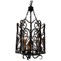 CWI Lighting 9888P16-3-122 Branch 3 Light 16 inch Autumn Bronze Chandelier Ceiling Light