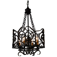 CWI Lighting 9888P16-4-122 Branch 4 Light 16 inch Autumn Bronze Chandelier Ceiling Light