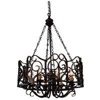 CWI Lighting 9888P25-8-122 Branch 8 Light 25 inch Autumn Bronze Chandelier Ceiling Light