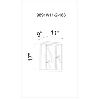 CWI Lighting 9891W11-2-183 Tapi 2 Light 9 inch Luxor Silver Wall Sconce Wall Light
