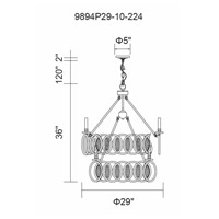 Attis 10 Light 29 inch Gun Metal Chandelier Ceiling Light