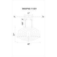 Calhoun 11 Light 2 inch Chrome Chandelier Ceiling Light