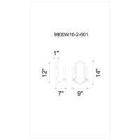 CWI Lighting 9900W10-2-601 Calhoun 2 Light 6 inch Chrome Wall Sconce Wall Light