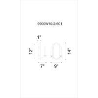 CWI Lighting 9900W10-2-601 Calhoun 2 Light 6 inch Chrome Wall Sconce Wall Light