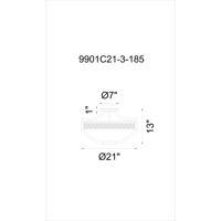 CWI Lighting 9901C21-3-185 Pollett 3 Light 21 inch Golden Bronze Bowl Flush Mount Ceiling Light