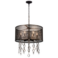 CWI Lighting 9901P20-6-185 Pollett 6 Light 20 inch Golden Bronze Chandelier Ceiling Light