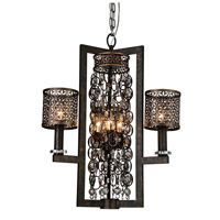 CWI Lighting 9901P22-6-185 Pollett 6 Light 22 inch Golden Bronze Chandelier Ceiling Light