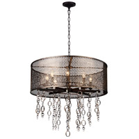 CWI Lighting 9901P28-8-185 Pollett 8 Light 28 inch Golden Bronze Chandelier Ceiling Light