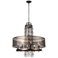 CWI Lighting 9901P32-8-185 Pollett 8 Light 32 inch Golden Bronze Chandelier Ceiling Light