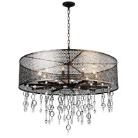 CWI Lighting 9901P36-10-185 Pollett 10 Light 36 inch Golden Bronze Chandelier Ceiling Light