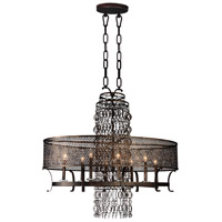 CWI Lighting 9901P42-8-185 Pollett 8 Light 19 inch Golden Bronze Chandelier Ceiling Light