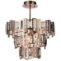 CWI Lighting 9903C18-5-193 Quida 5 Light 18 inch Champagne Flush Mount Ceiling Light