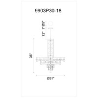 Champagne Metal Chandeliers