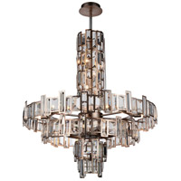 CWI Lighting 9903P30-18-193 Quida 18 Light 31 inch Champagne Pendant Ceiling Light