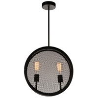 CWI Lighting 9904P16-2-101 Tigris 2 Light 16 inch Black Up Pendant Ceiling Light