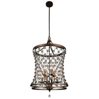 CWI Lighting 9907P20-8-206 Tieda 8 Light 20 inch Speckled Bronze Chandelier Ceiling Light