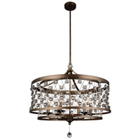 CWI Lighting 9907P27-6-206 Tieda 6 Light 27 inch Speckled Bronze Chandelier Ceiling Light