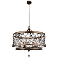 CWI Lighting 9907P27-6-206 Tieda 6 Light 27 inch Speckled Bronze Chandelier Ceiling Light