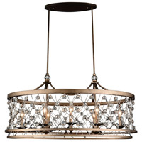 CWI Lighting 9907P38-8-206 Tieda 8 Light 38 inch Speckled Bronze Chandelier Ceiling Light