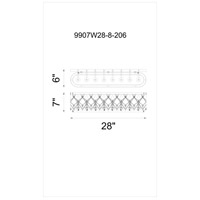 CWI Lighting 9907W28-8-206 Tieda 8 Light 28 inch Speckled Bronze Wall Sconce Wall Light