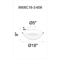 CWI Lighting 9908C18-3-606 Wallula 3 Light 18 inch Satin Nickel Bowl Flush Mount Ceiling Light