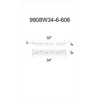 Wallula 6 Light 34 inch Satin Nickel Wall Sconce Wall Light